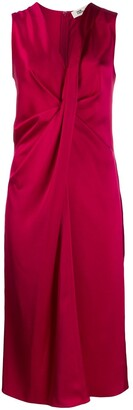Diane von Furstenberg Katrita satin draped dress