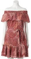 Lauren Conrad Women's Print Off-the-Shoulder Shift Dress