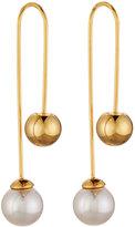 Majorica 8mm Pearl & Bead Thread-Through Earrings, Golden/White