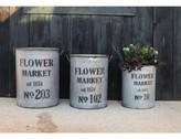Creative Co-Op Flower Market 3-Pc. Round Bucket Set