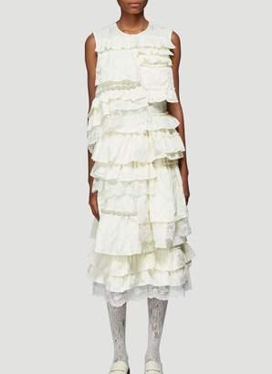 MONCLER GENIUS Moncler X Simone Rocha Tiered Ruffled Dress