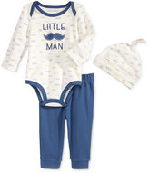 First Impressions Baby Boys' 3-Pc. Hat, Little Man Bodysuit & Pants Set, Only at Macy's