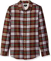 Obey Men's lauder Long Sleeve Woven Shirt