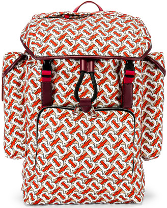 Burberry Ranger Monogram Backpack in Vermilion | FWRD