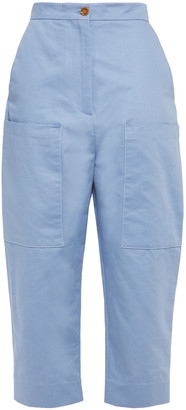 Marni Cotton And Linen-blend Twill Tapered Pants