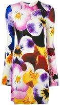 Christopher Kane floral print shift dress - women - Spandex/Elastane/Viscose - S