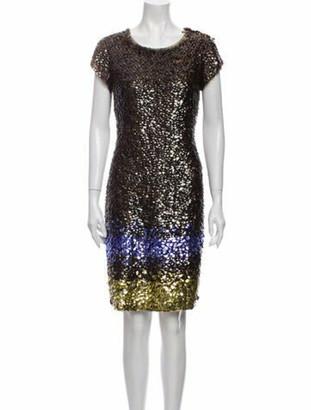 Oscar de la Renta 2009 Knee-Length Dress Brown
