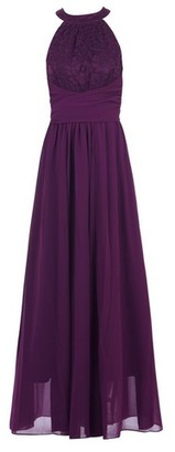 Dorothy Perkins Womens Jolie Moi Purple Lace Maxi Dress