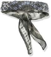 BCBGeneration Women's Shibori Printed Rolled Necktie Scarf