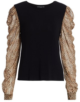 Generation Love Quinn Cheetah Sleeve Top