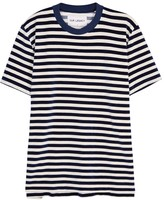 Our Legacy Navy Striped Velour T-shirt