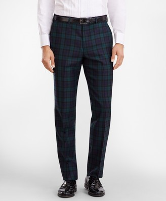 Brooks Brothers Regent Fit Black Watch Wool Trousers
