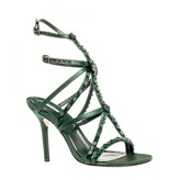 Max Studio Satire – Beaded High Heel Satin Sandals
