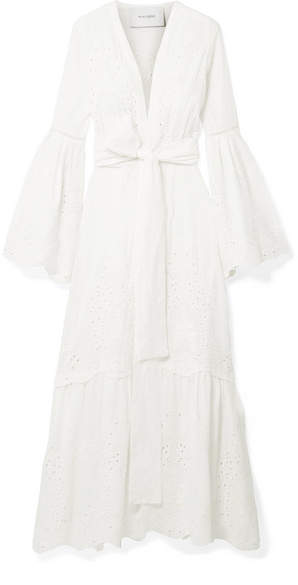 Leone we are Broderie Anglaise Cotton Maxi Dress - Ivory