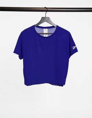 Reebok workout-ready tee in cobalt blue