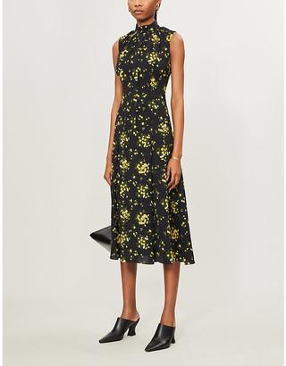 Emilia Wickstead Joelle high-neck floral-print crepe midi dress