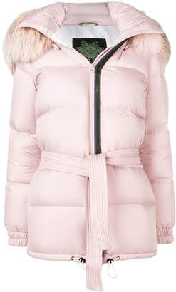 Mr & Mrs Italy hooded puffer jacket