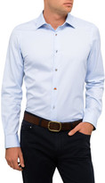 Paul Smith Cotton Twill Plain Charm Button Shirt