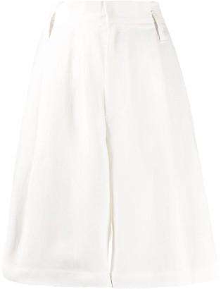 Brunello Cucinelli Wide-Leg Knee-Length Shorts