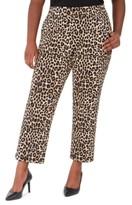 Michael Kors Michael Plus Size Animal-Print Wide-Leg Pants