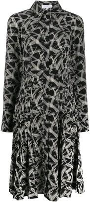 Equipment Abstract Print Midi Dress