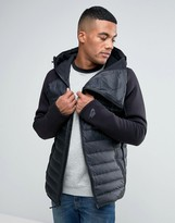 Nike Hooded Aeroloft Jacket In Black 806838-010