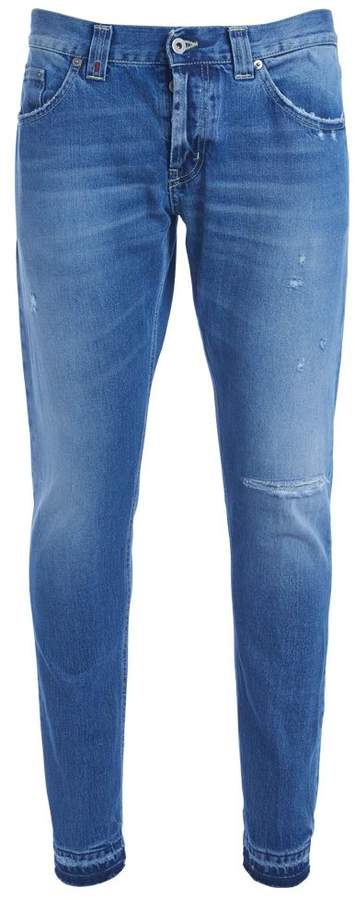 Dondup Don Dup Mius Light Blue Washed Ripped Jeans