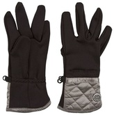 Poivre Blanc Black and Silver Stretch Fleece Gloves