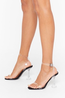 Nasty Gal Womens It's All So Clear Now Clear Stiletto Heels - Black - 5