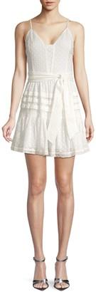 Paige Nahla Ruffle Tie-Waist Dress