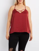 Charlotte Russe Plus Size Strappy Swing Tank Top