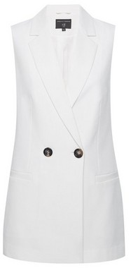 Dorothy Perkins Womens Cream Sleeveless Blazer Jacket, Cream