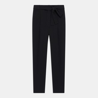 Theory Sash Tie Pant in Crepe