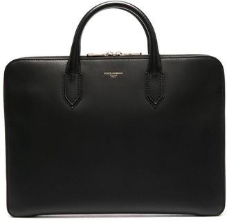 Dolce & Gabbana Logo-Embossed Laptop Bag