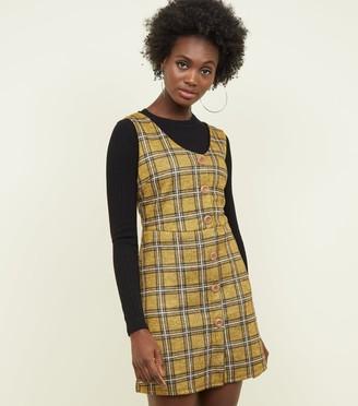 New Look Cameo Rose V-Neckline Pinafore Dress