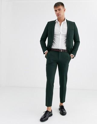 Burton Menswear skinny fit suit trousers in green