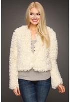 Betsey Johnson Curly Q Jewel Neckline Jacket (Cream) - Apparel