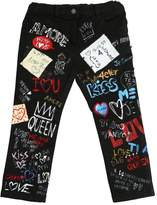 Dolce & Gabbana Printed Stretch Denim Jeans