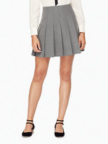 Kate Spade Pleated twill skirt