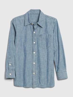 Gap Kids Chambray Button-Up Shirt
