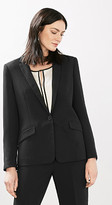 Esprit Crêpe blazer with fabric-covered buttons