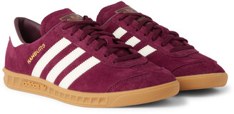 adidas Hamburg Leather-Trimmed Suede Sneakers