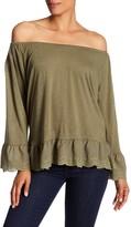 Sanctuary Juliette Off-the-Shoulder Long Sleeve Shirt