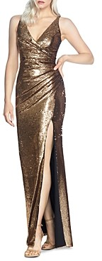 Dress the Population Jordan Ruched Sequined Gown