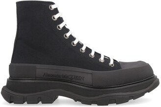 Alexander McQueen Lug-sole Lace-up Boots