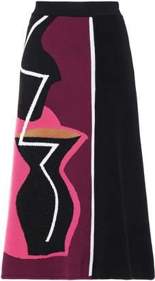 Roksanda Color-block Jacquard-knit Midi Skirt