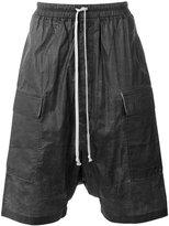 Rick Owens drop-crotch shorts - men - Cotton - XS