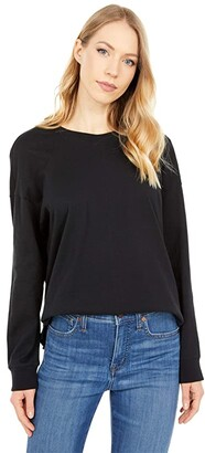 Madewell Delancey Long Sleeve Tee (True Black) Women's Clothing
