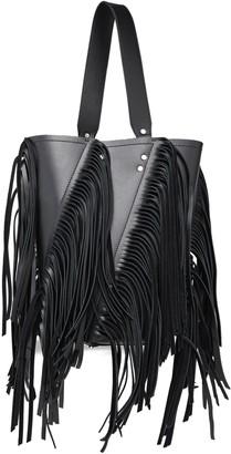 Proenza Schouler Hex Medium Fringed Metallic Leather Bucket Bag