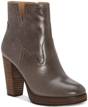 Lucky Brand Women's Quintei Leather Booties Women's Shoes
